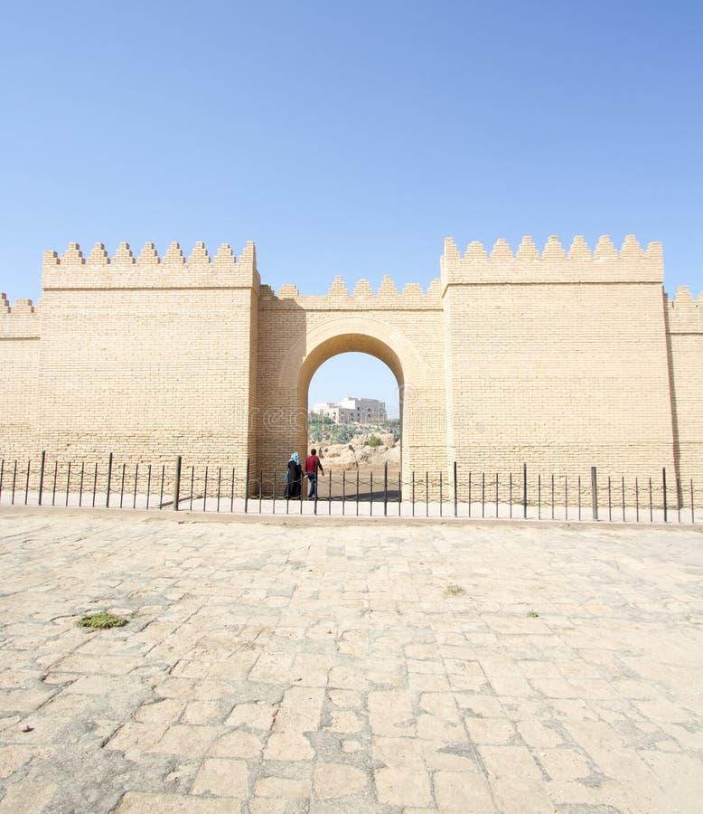 De muur van de stad van Babylon stock afbeeldingen
