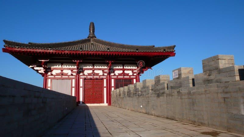 De Muur van de stad van Xi'an royalty-vrije stock afbeeldingen