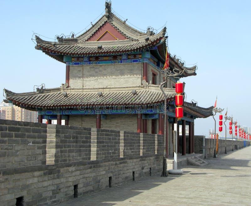 De Muur van de Stad van Xian stock afbeelding