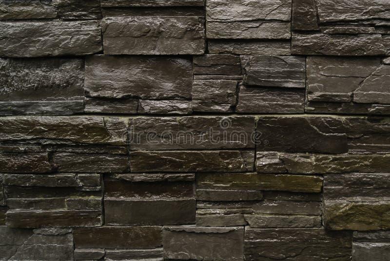De muur van de textuursteen stock fotografie