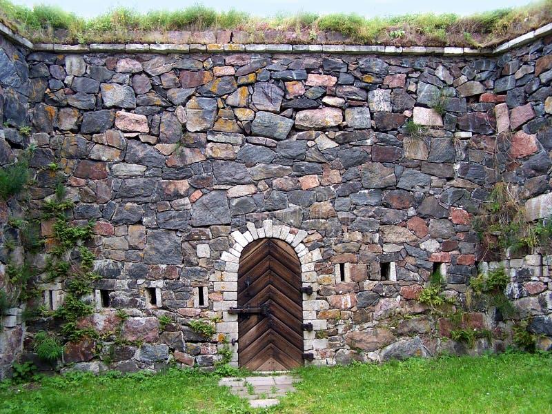 De Muur van de vesting stock afbeeldingen