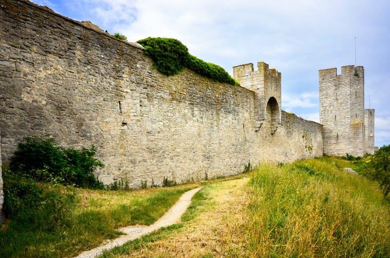 De muur van de Visbystad royalty-vrije stock foto's