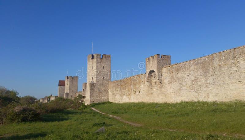 De muur van de Visbystad stock foto
