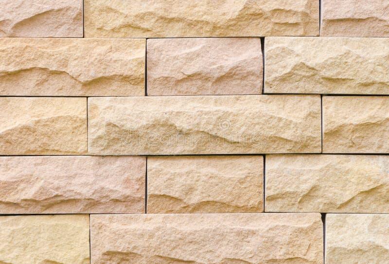 De muur van de zandsteen royalty-vrije stock afbeeldingen