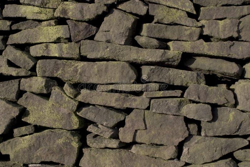 De Muur Van Drystone (Gritstone) Royalty-vrije Stock Foto's