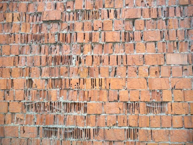 De muur is van een oude baksteen stock afbeeldingen