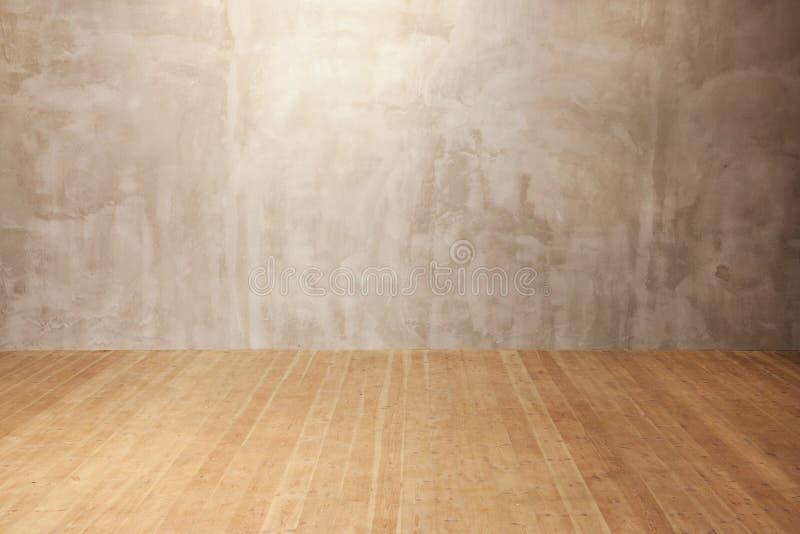 De muur van Grunge, houten vloerachtergrond royalty-vrije stock afbeeldingen