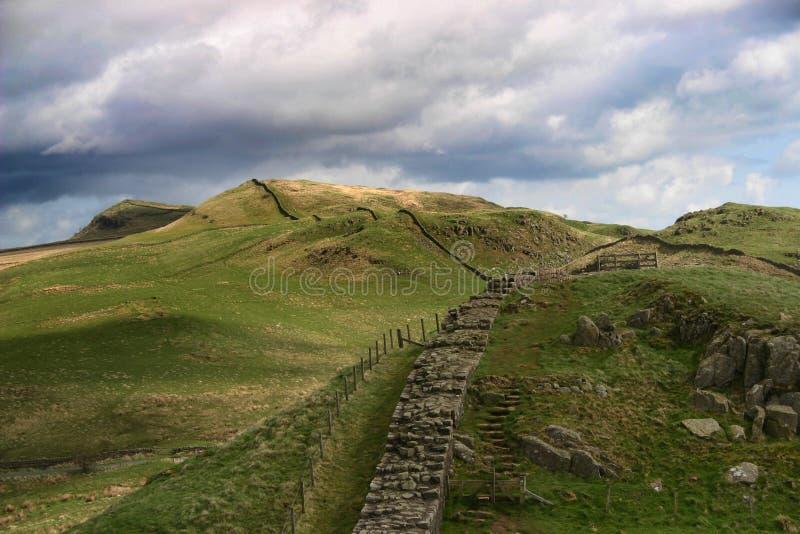 De muur van Hadrian stock foto's