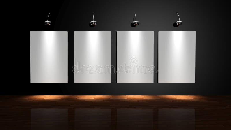 De muur van het album stock illustratie