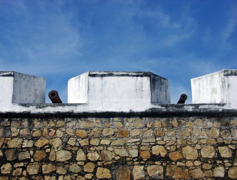 De Muur van het Fort van Acapulco royalty-vrije stock foto's