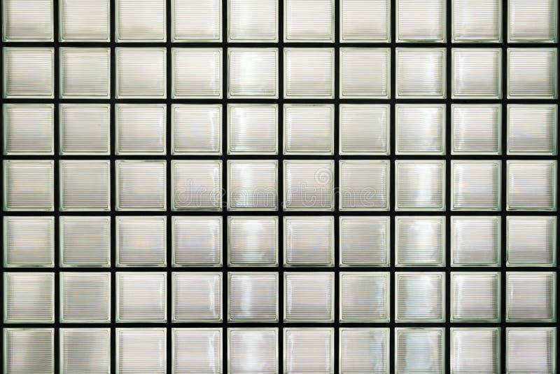 De muur van het glasblok royalty-vrije stock afbeeldingen