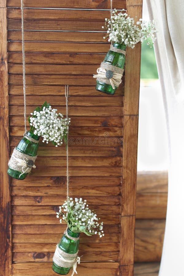 De muur van het huwelijksdecor stock afbeeldingen