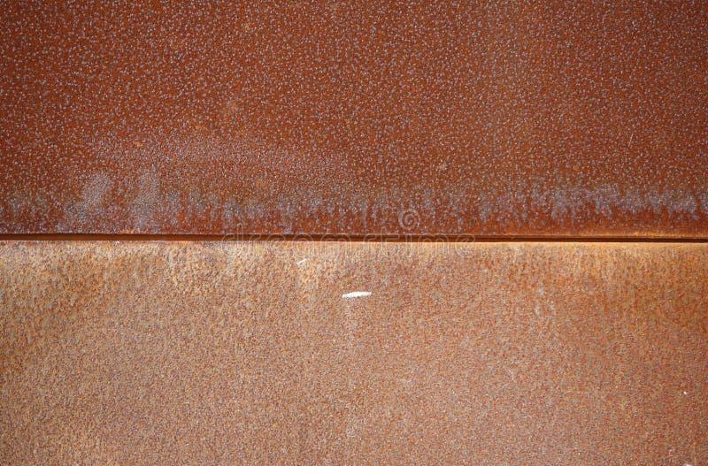 De muur van het ijzer met roest royalty-vrije stock afbeelding