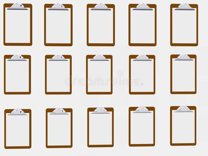 De Muur van het klembord vector illustratie