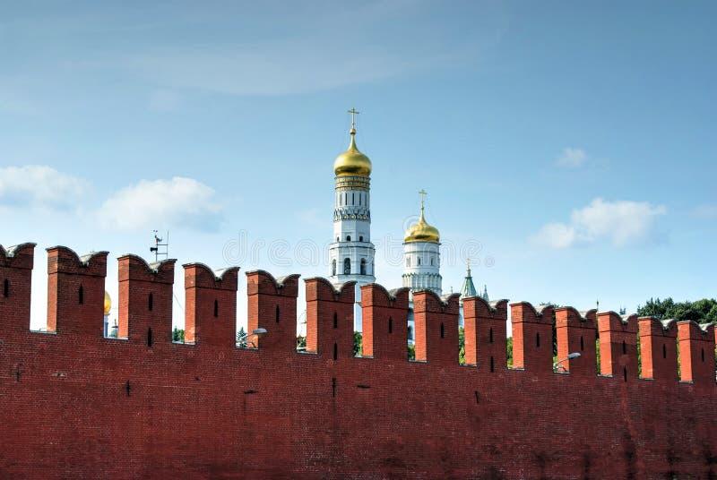 De muur van het Kremlin royalty-vrije stock afbeelding