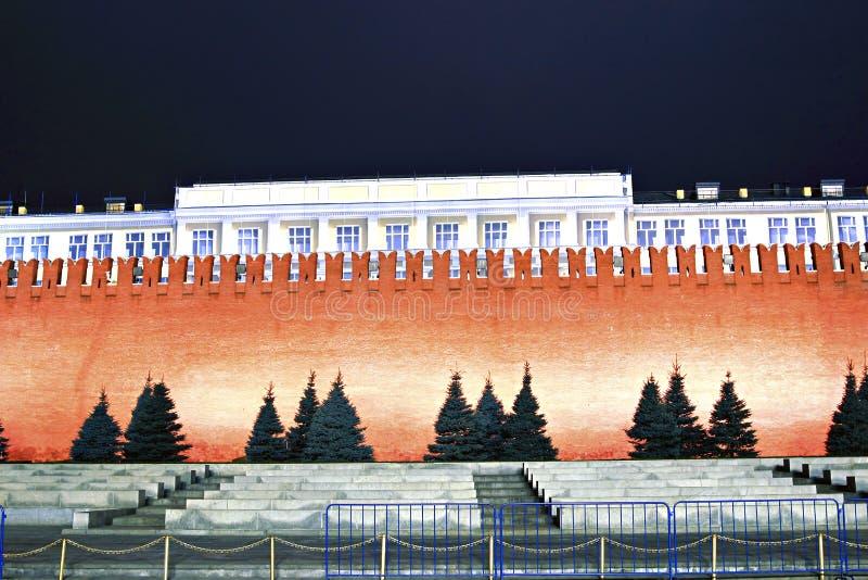 De muur van het Kremlin op Rood Vierkant in Moskou royalty-vrije stock foto's