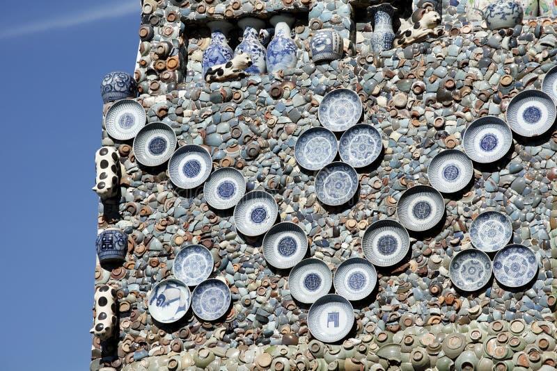 De muur van het porselein stock foto