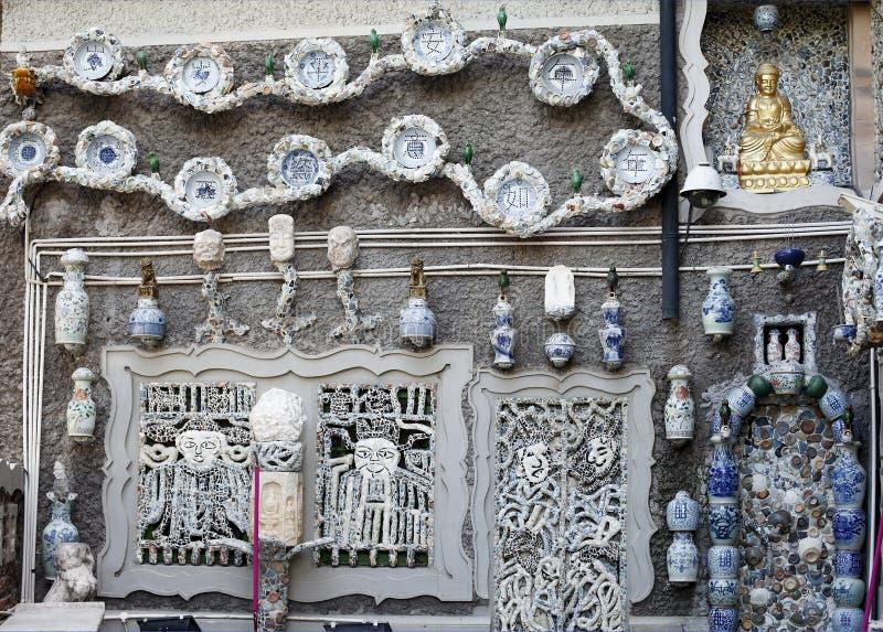 De muur van het porselein royalty-vrije stock afbeeldingen