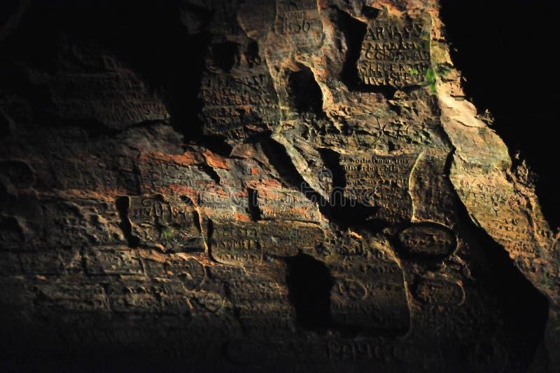 De muur van het zandsteen stock foto's