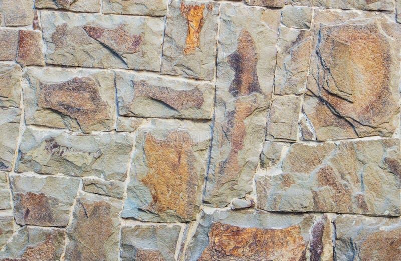 De muur van de metselwerksteen royalty-vrije stock afbeeldingen