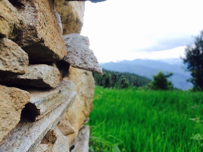De Muur van rotsen royalty-vrije stock afbeeldingen