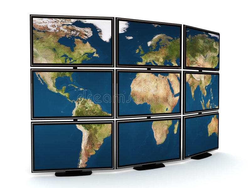 De muur van TV vector illustratie