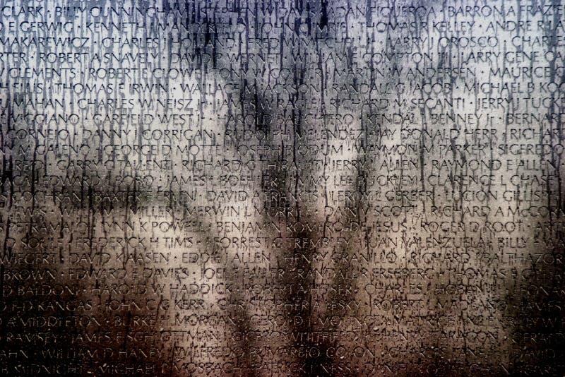 De muur van Vietnam van nmaes stock afbeeldingen