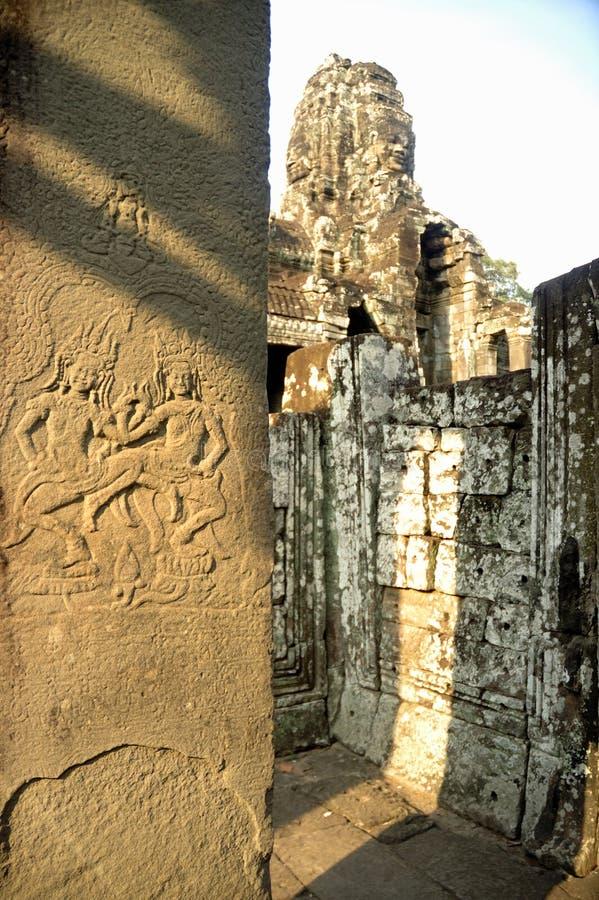 De muurgravures van ANG Kor Wat royalty-vrije stock afbeeldingen