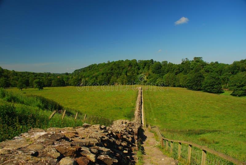 De muurland van Hadrian, Groot-Brittannië stock afbeeldingen