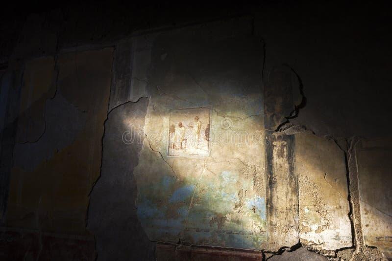 De muurschilderijen van Pompei royalty-vrije stock afbeelding