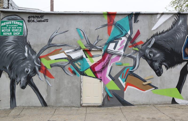 De muurschilderingkunst bij centrum-fuge-centreert Project in Staten Island, NY royalty-vrije stock foto