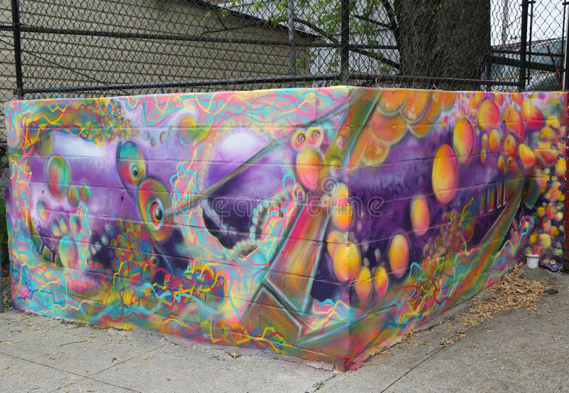 De muurschilderingkunst bij centrum-fuge-centreert Project in Staten Island, NY royalty-vrije stock fotografie