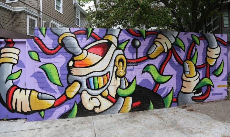 De muurschilderingkunst bij centrum-fuge-centreert Project in Staten Island, NY stock foto