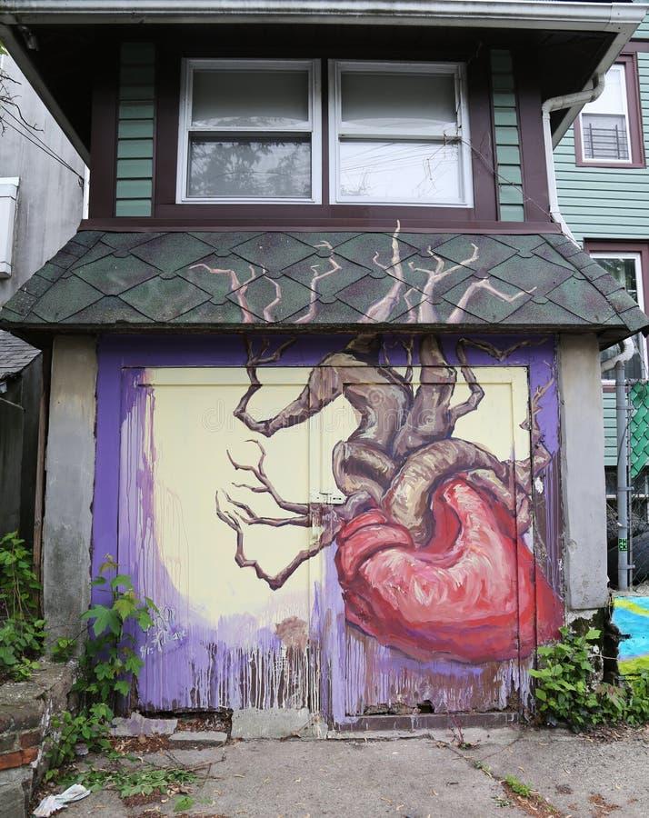 De muurschilderingkunst bij centrum-fuge-centreert Project in Staten Island, NY royalty-vrije stock foto's