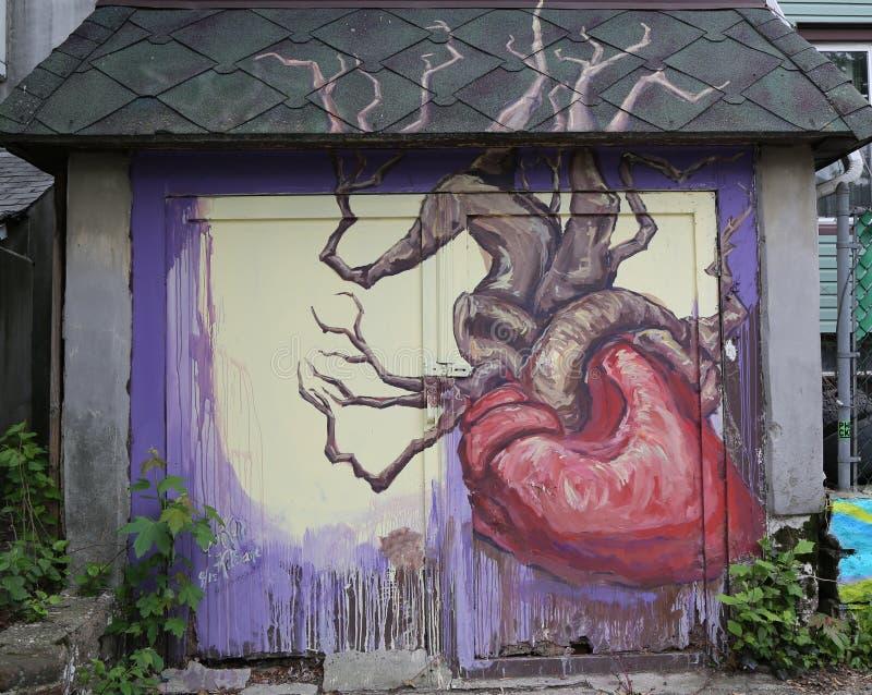 De muurschilderingkunst bij centrum-fuge-centreert Project in Staten Island, NY royalty-vrije stock afbeelding