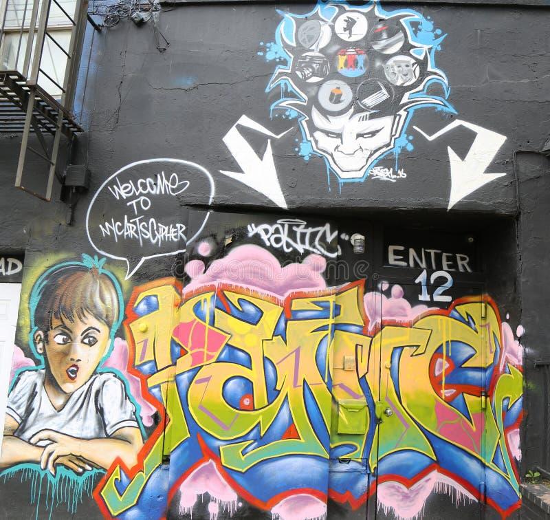 De muurschilderingkunst bij centrum-fuge-centreert Project in Staten Island, NY stock foto's