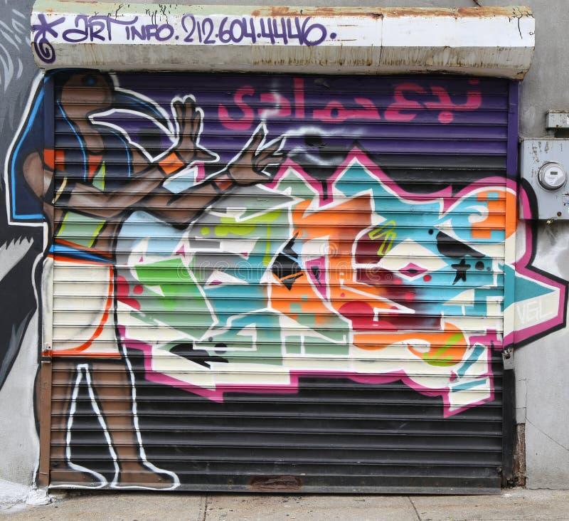 De muurschilderingkunst bij centrum-fuge-centreert Project in Staten Island, NY stock fotografie
