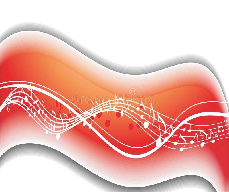 De muziek neemt nota golf van thema stock illustratie
