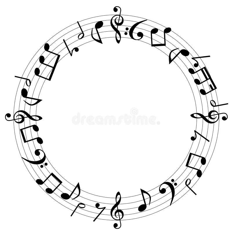 De muziek neemt nota van achtergrond royalty-vrije illustratie
