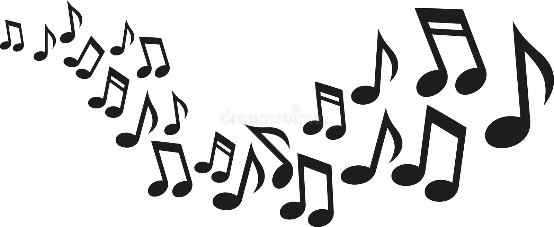 De muziek neemt nota van golf vector illustratie