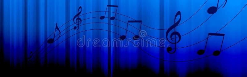 De muziek neemt nota van kopbal stock illustratie