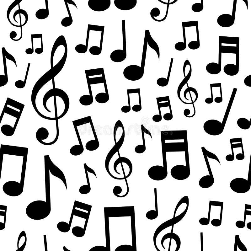 De muziek neemt nota van Naadloos Patroon royalty-vrije illustratie