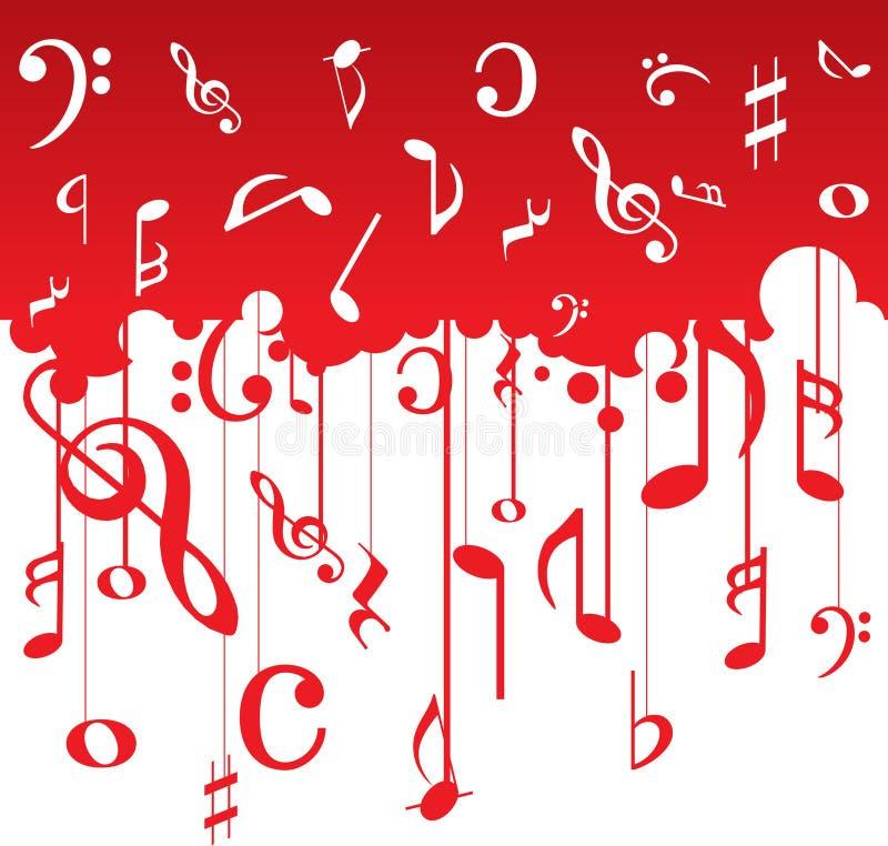 De muziek neemt nota van patroon royalty-vrije illustratie