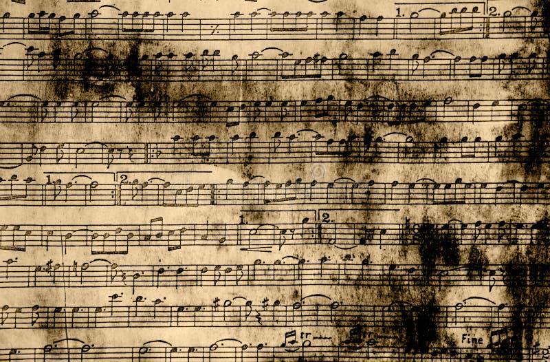 De muziek neemt nota van uitstekend document stock fotografie