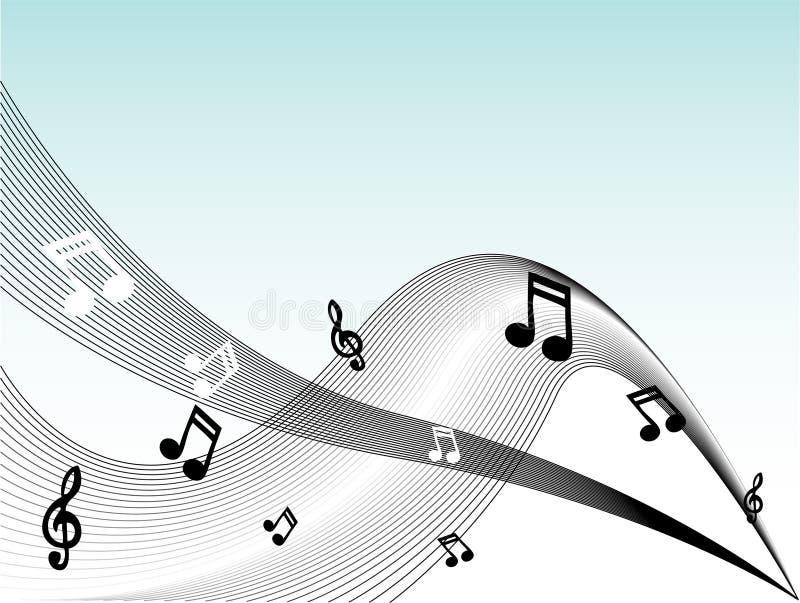 De muziek neemt nota van Vector royalty-vrije illustratie
