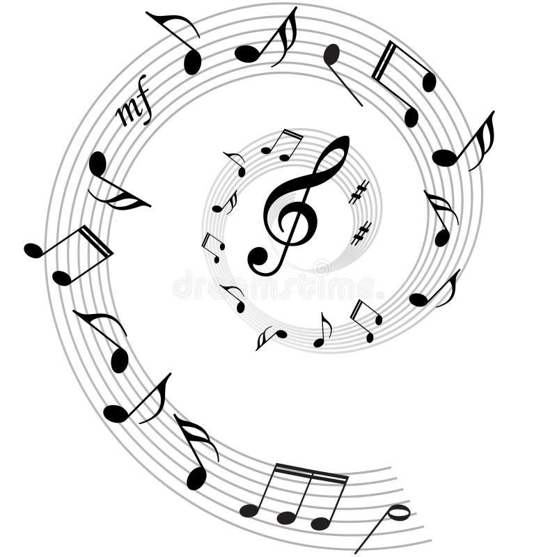 De muziek neemt nota van vectorachtergrond stock illustratie