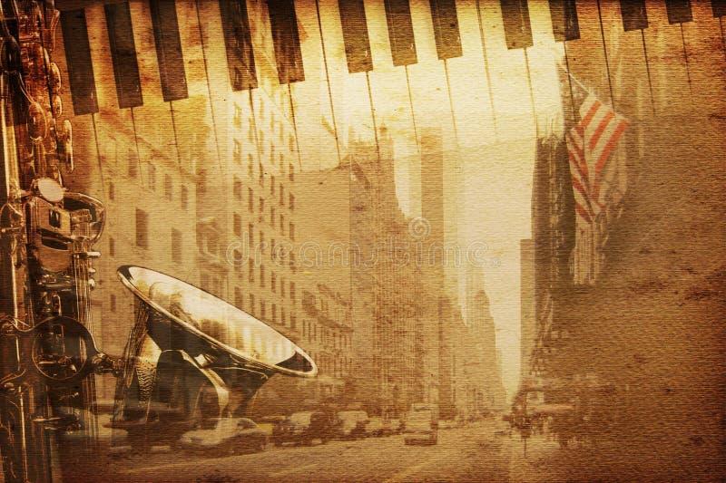 De muziek van Broadway vector illustratie