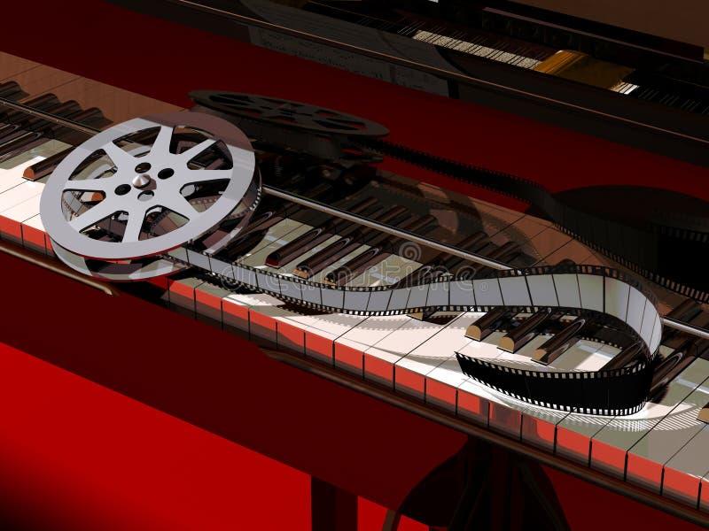 De Muziek van de film vector illustratie