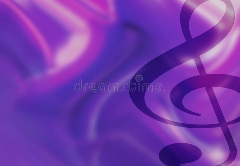 De Muziek van de g-sleutel neemt nota van Illustratie vector illustratie