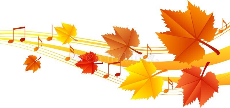De muziek van de herfst vector illustratie